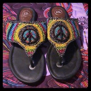 The Sak Peace sign sandals